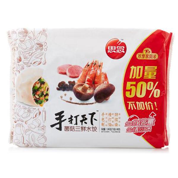 思念 金牌手打天下菌菇三鲜水饺720g